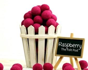 ORG-RA Felt Balls -  2.5 cm - 25 count - Raspberry
