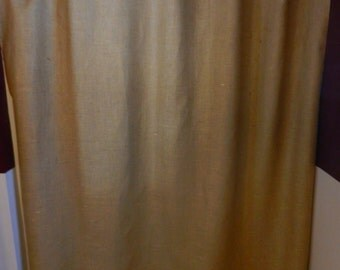 "Burlap shower curtain.72""X72"" Seamless. No extra charge for up to 96"" long."