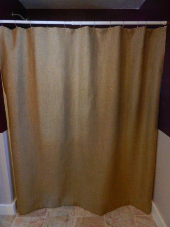 """Burlap shower curtain.72""""X72"""" Seamless. No extra charge for up to 92"""" long."""