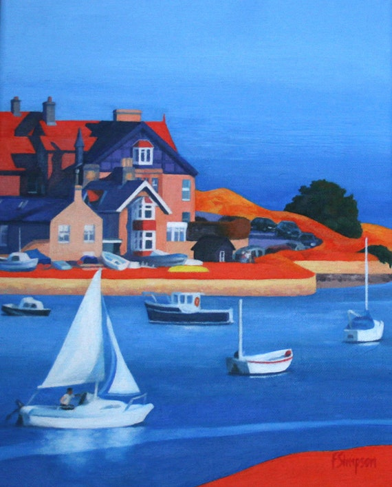 Alnmouth Estuary- Mounted Limited Edition Print