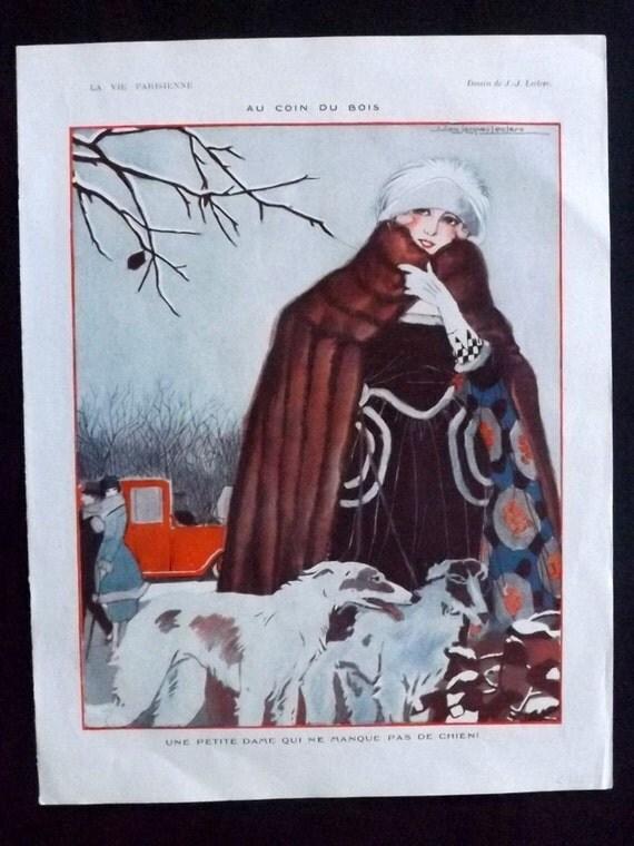 la vie parisienne art deco print 1921 au coin du by albionprints. Black Bedroom Furniture Sets. Home Design Ideas