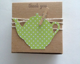 30 Bridal Shower favor boxes teapot favor boxes bridal shower favor box-DIY favor box kit