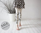 20% SALE - Ivory butterflies: beige leggings