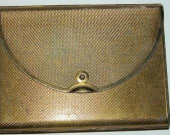 Antique Purse Compact Vintage COTY COMPACT Envelope Style Powder Mirror Compartment