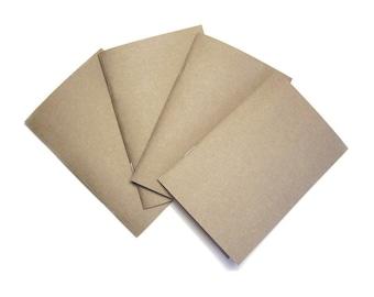 Kraft Notebook, Kraft Pocket Notebook, Soft Cover Notebook, Pocket Notebook, Field Journal, Kraft Jotter, Kraft Journal, Mini Kraft Notebook
