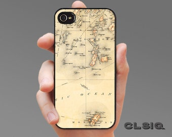 Vintage Monhegan Island Map iPhone Case for iPhone 6, iPhone 5/5s, or iPhone 4/4s, Samsung Galaxy S6, Galaxy S5, Galaxy S4, Galaxy S3