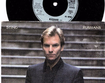 """STING Russians 1985 Uk Issue 7"""" 45 rpm Single Vinyl Record Music Pop Rock New Wave Police Reggae 80s am 292 *SALE 45s*"""