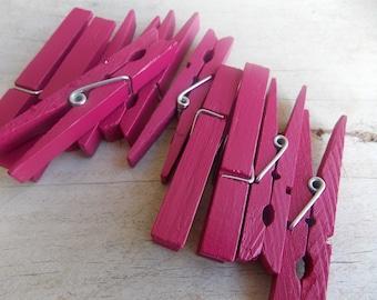 Magenta Clothespins