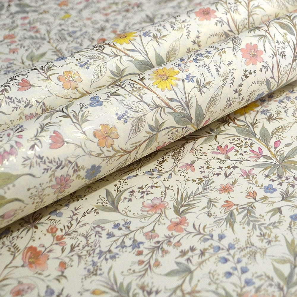 Italian decorative paper spring flowers for Decorative paper