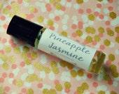 Pineapple Jasmine Perfume Oil - roll on perfume - coconut oil perfume - 10ml glass bottle