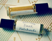 Dark Patchouli Natural Perfume Oil - roll on perfume - coconut oil perfume - aromatherapy - essential oil - 10ml glass bottle