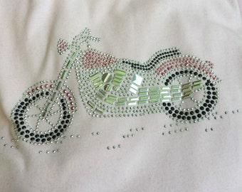 Ladies tshirt Motorcycle Bling