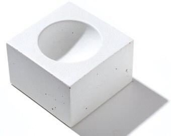MICRO ORB White Concrete Bowl / Mens ring holder / Women's Ring Holder / Ring Bowl / Jewelry Holder