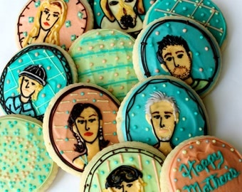 Family Portrait / Mother's Day / Father's Day Sugar Cookies with Buttercream Frosting