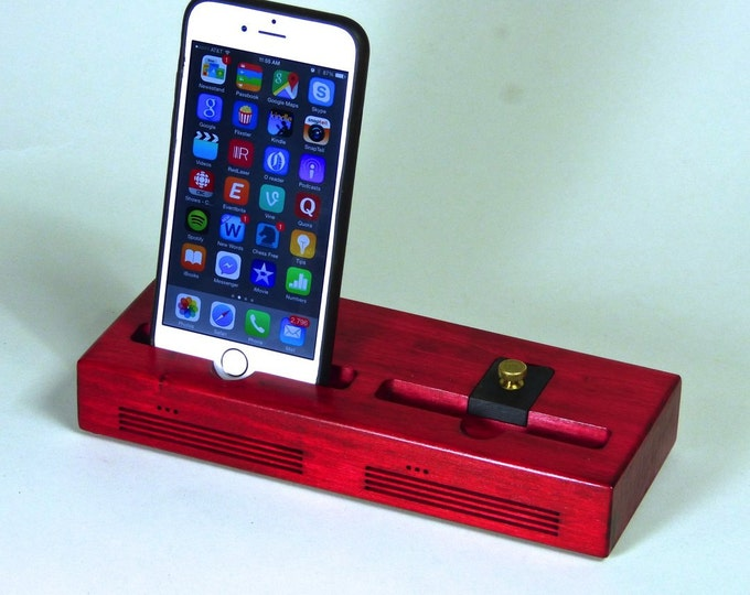 iPhone Docking Station - The CONCERT Dual Acoustic Speaker Dock in RED