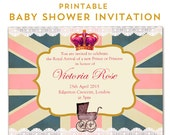 Personalised Royal Baby Shower printable Invitations