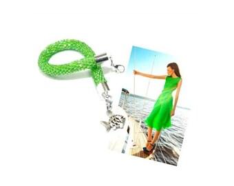 Seed Bead Bracelet. Beaded Bracelet. Bead Crochet Bracelet. Green Bracelet. Fashionable Bracelet. Handmade Jewerly.