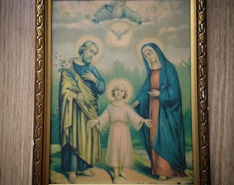 Antique Vintage Religious Wallhanging