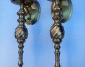 Vintage Decorative Brass Candle Sconces