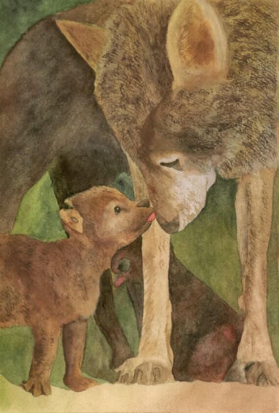 Wolf Animal Art Love Will Keep Us Together