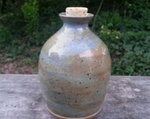 READY TO SHIP - Pottery Cremation Urn - Wheel Thrown Clay - Funerary Cremains Jar For Family Member or Pet Ashes - Hearth - Up to 19lb