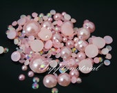 300PCS Mixed Pink Pearls AB Rhinestone Jewelry Accessories materials supplies