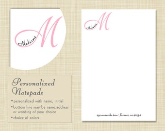 Personalized Notepad - Personalized Note Pad - Monogram Notepad - Monogram Note Pad - MONOGRAM NAME