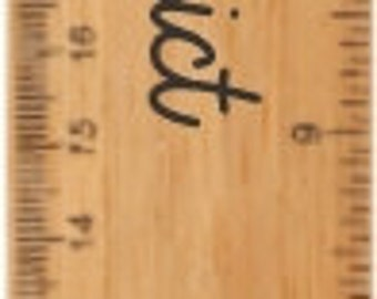 """Personalized 12"""" Bamboo Ruler"""