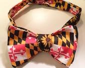Black Eyed Susan//Maryland Flag Bow Tie