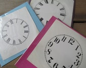 One Vintage Clock Face Paper Ephemera CHOOSE ONE