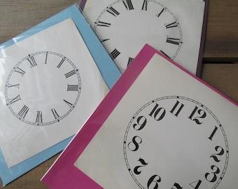 One Vintage Clock Face Paper Ephemera CHOOSE ONE
