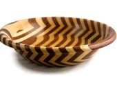 Buzebraple Bubinga and Maple Striped Wood Bowl FB6141