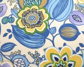 OUTDOOR Pillow Cover / Blue and Yellow Floral Print