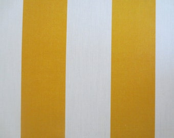 OUTDOOR Pillow Cover in a Yellow and White Stripe Print