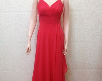 Red Prom Dress. Floor Length Dress. Long Bridesmaid Dress