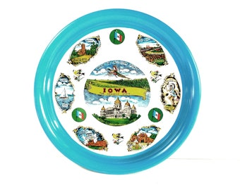 Vintage Iowa Souvenir State Tin Plate