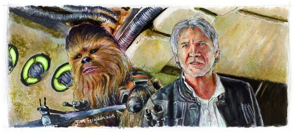 Star Wars - Chewie We're Home  Poster Print