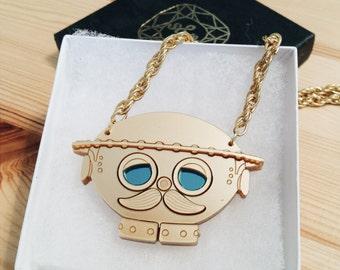Tik Tok Necklace - laser cut acrylic