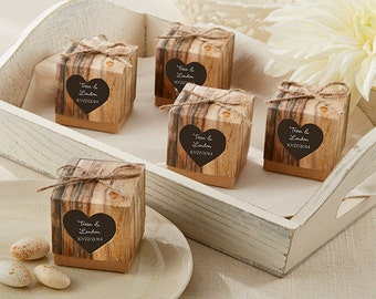 Personalized Favor Box (set of 24), rustic favor boxes, candy favor boxes, wedding favors