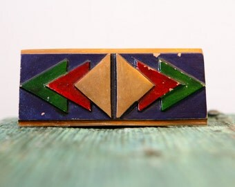 Solid brass business card holder
