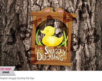 Tangled Party: Snuggly Duckling Pub Sign (Digital File)