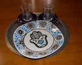 Hamsa and Mehndi Inspired Handpainted Dish