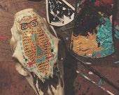 Reserved for Emelie Lilja owl on a deer skull