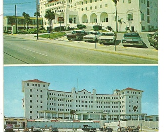 Postcard Daytona Beach FLORIDA Plaza Motel Retro Chrome Color  Post card