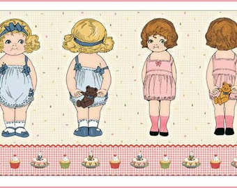 """Penny Rose - Paper Dolls Bakery by Sibling Arts Studio Paper Dolls 24"""" Panel"""