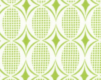 Moda - Half Moon Modern Ovals in Lime 32354-19 by the Yard