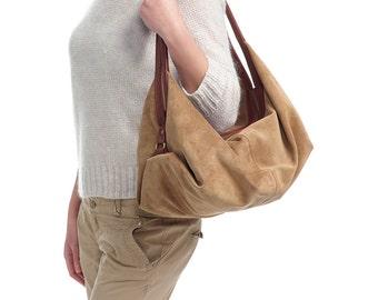 Leather Handbag - Leather Purse - Large Handmade Bag - DeLuna