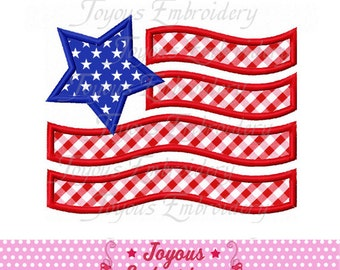 Instant Download Independence day Flag Applique Embroidery Design NO:1705