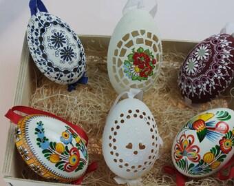 Goose Eggs - Hand Engraved Easter Eggs from Czech Republic