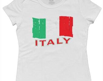 Ladies t-shirt / Italy Flag